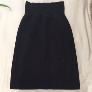 American Apparel Black Classic Mini Pencil Skirt